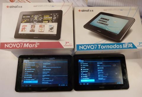 Ainol Novo 7 Mars и Tornado