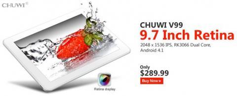 Планшет Chuwi V99 с Retina Screen